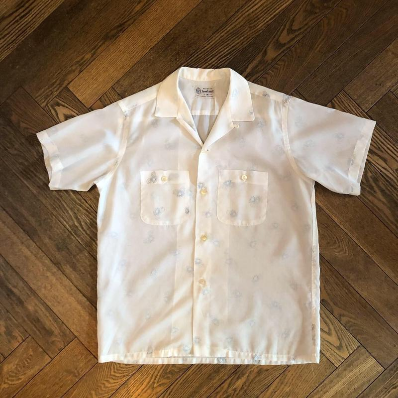 "50's  ""TOWNCRAFT"" PENNY'S  Open Collar Shirt"