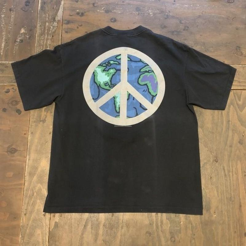 "90's ""MTV network"" Peace print T-shirt"