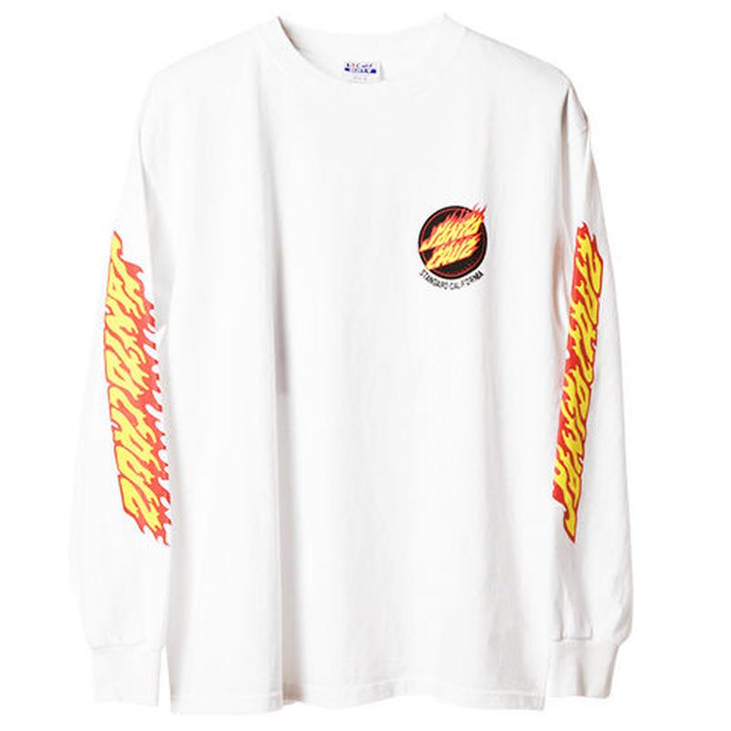 『SANTA CRUZ × SD Flame Logo Long Sleeve T』