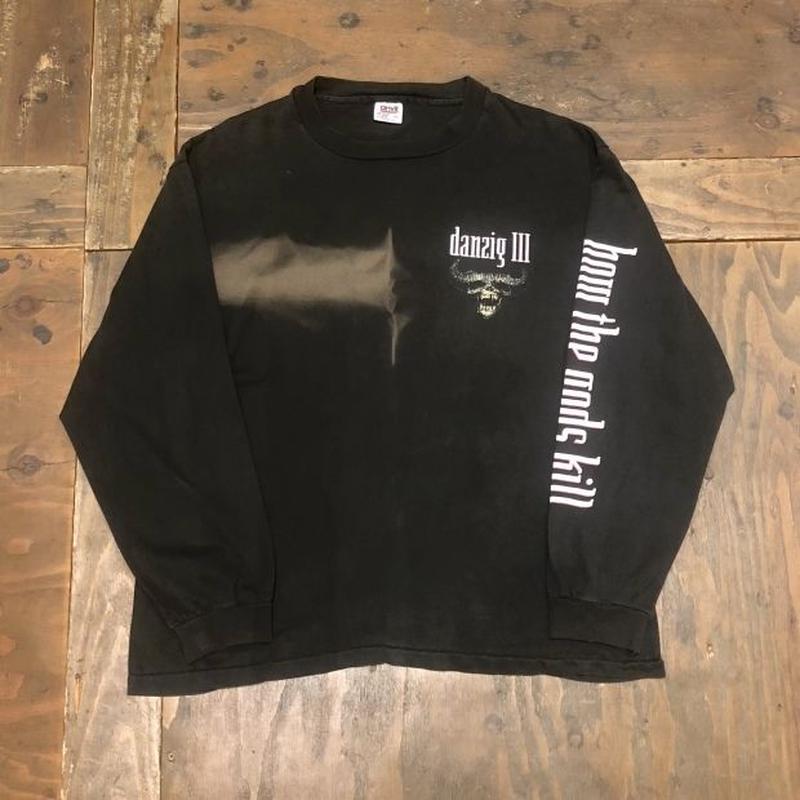 "90's  ""Danzig III :How the gods kill"" L/S T-shirt"