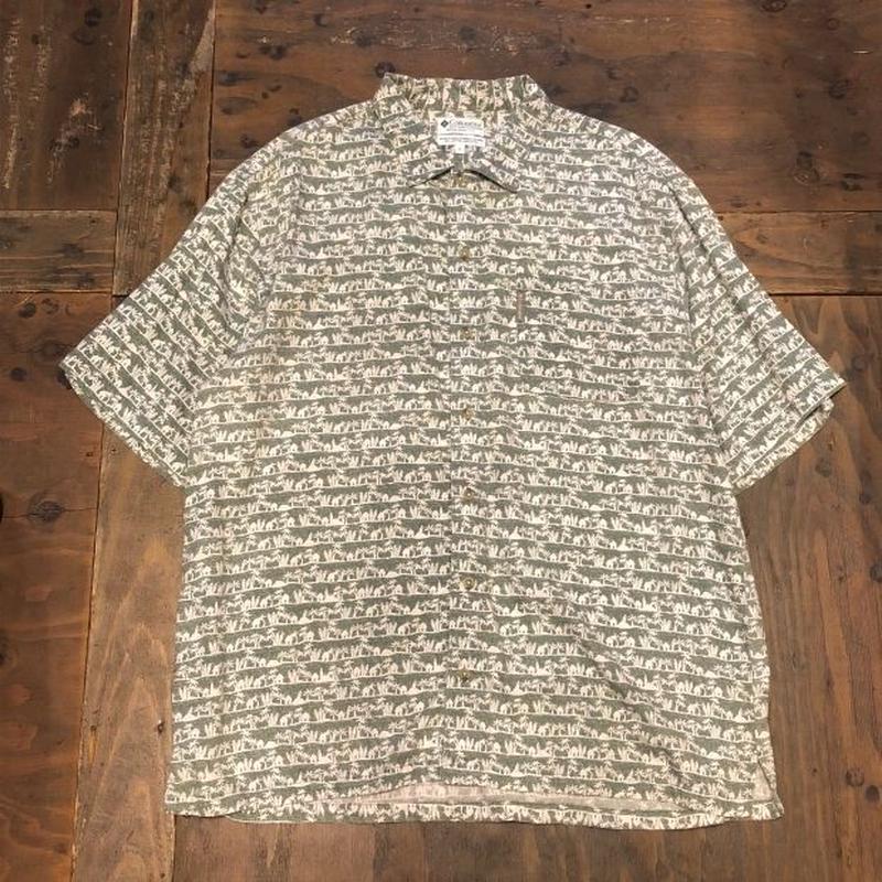 "90's ""Columbia"" Indian cotton S/S shirt"