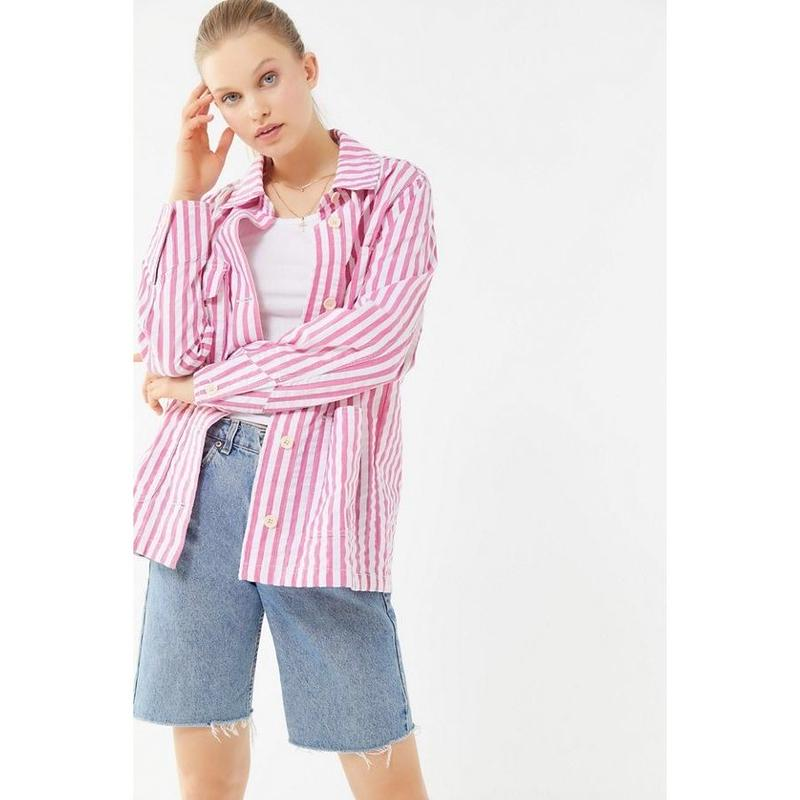 【Urban Outfitters】ジャケット ストライプ ピンク