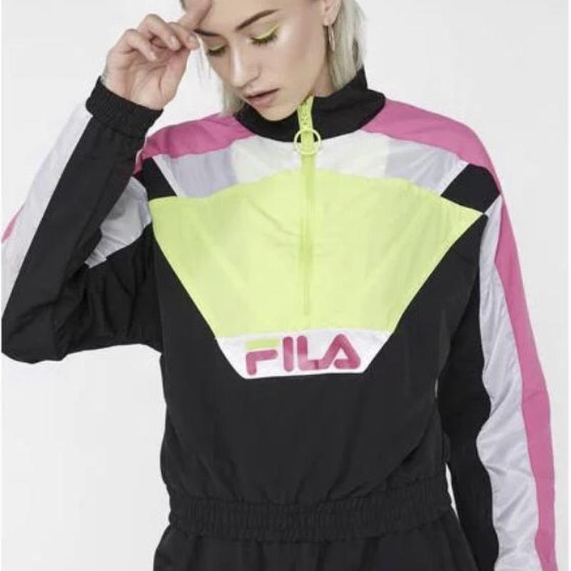 【FILA】ウインドブレーカー ジャケット ハーフジップ