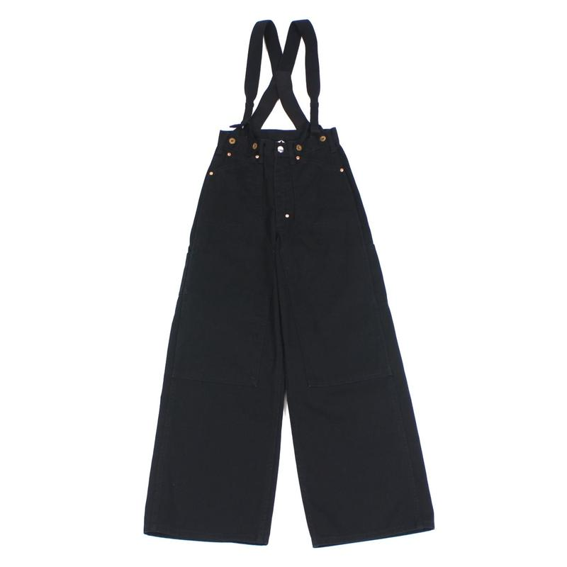 SUSPENDERS CANVAS WIDE PAINTER PANTS【WOMENS】