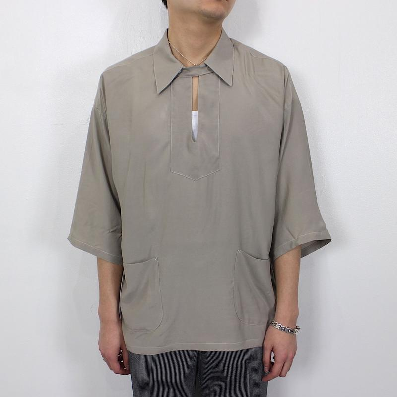 RAYON SILK SKIPPER SHIRTS【MENS】