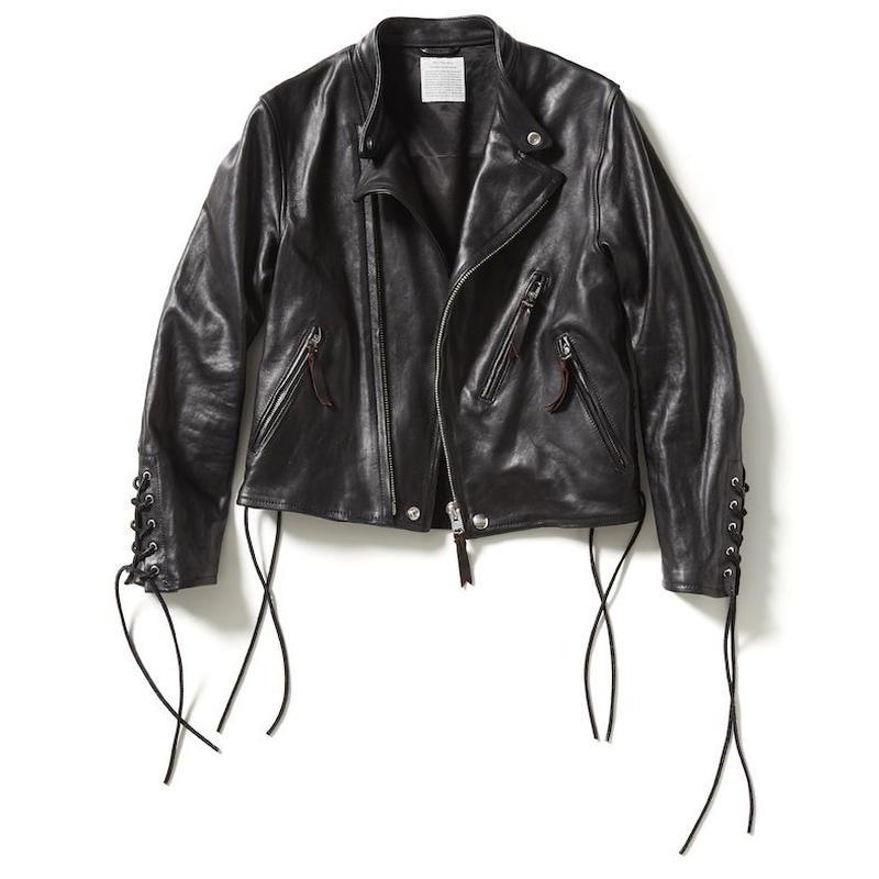 LACE UP LEATHER JACKET 【WOMENS】