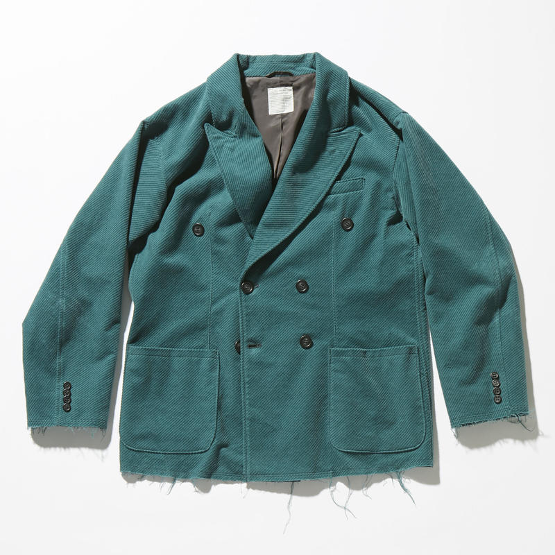 CORDUROY DOUBLE BREASTED JACKET 【MENS】