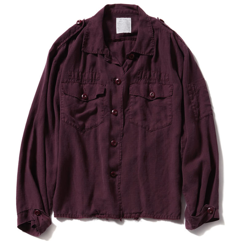 RAYON LIP UTILITY SHIRTS JACKET【WOMENS】