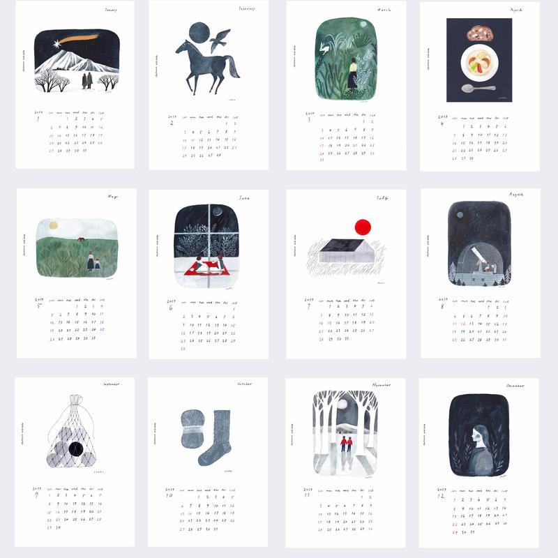 西淑カレンダー2019