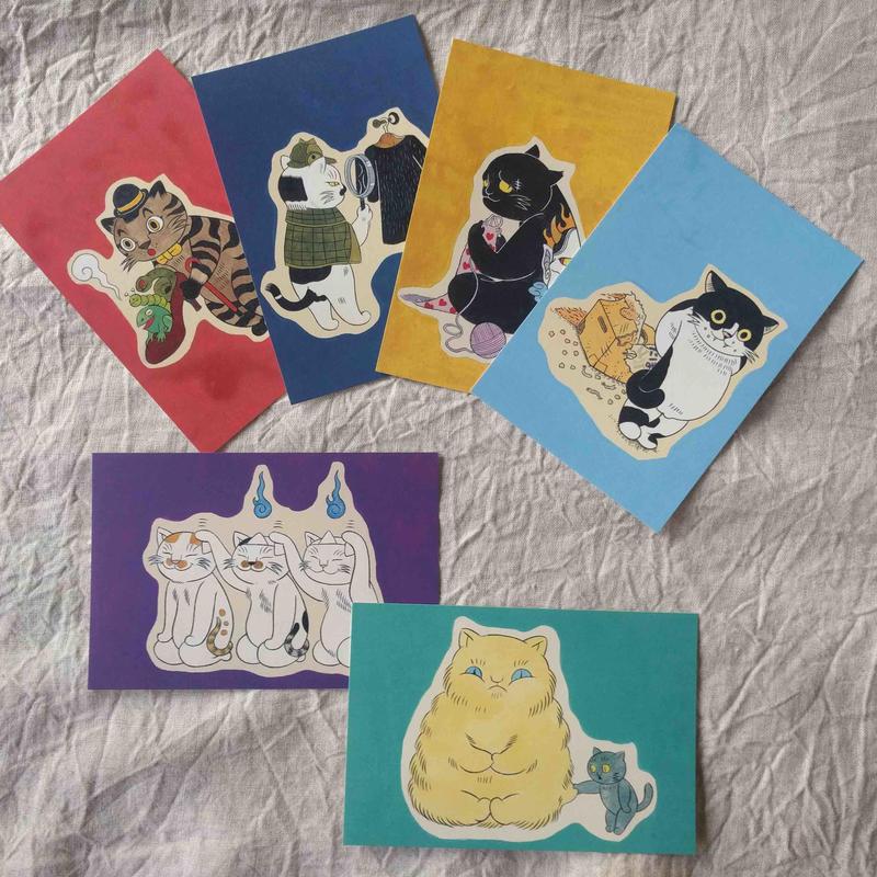 石黒亜矢子『猫かるた』ポストカードセット