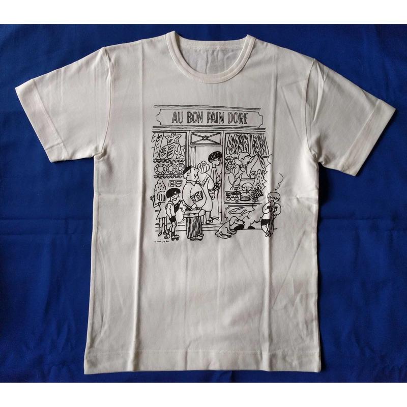 堀内誠一Tシャツ:「AU BON PAIN DORE」Mサイズ