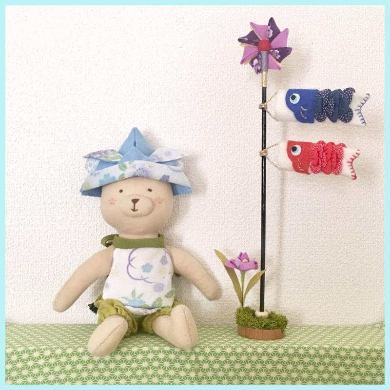 【期間限定】着せかえ☆くまさんの五月人形