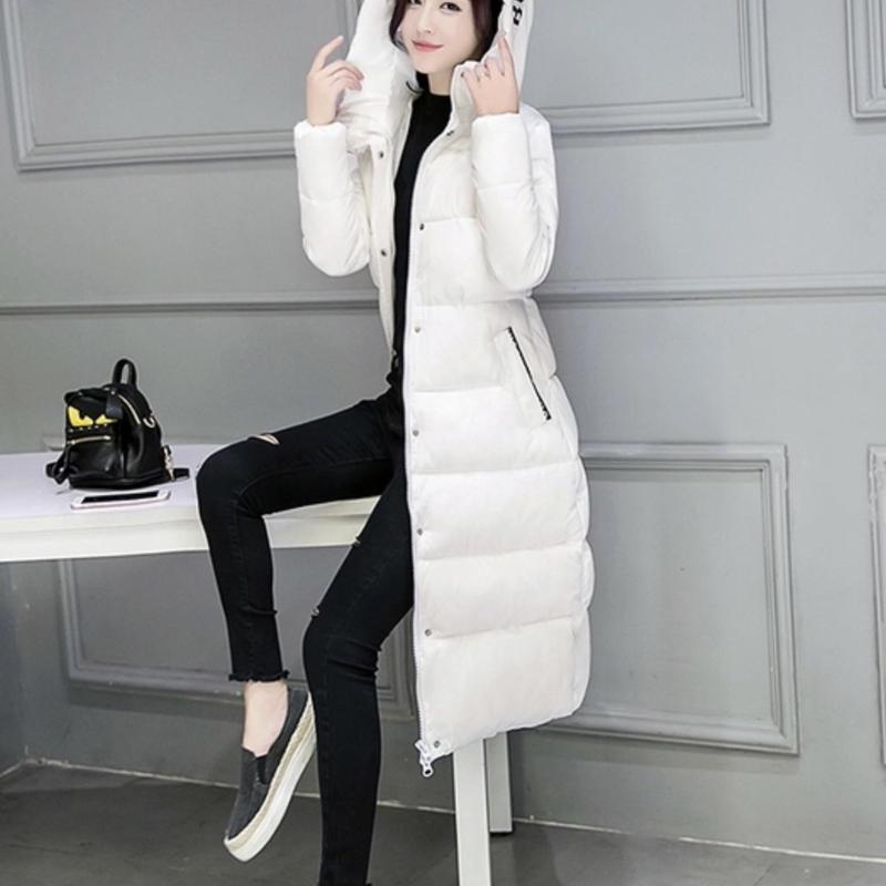 韓国風着痩せオシャレなロング ダウンコート