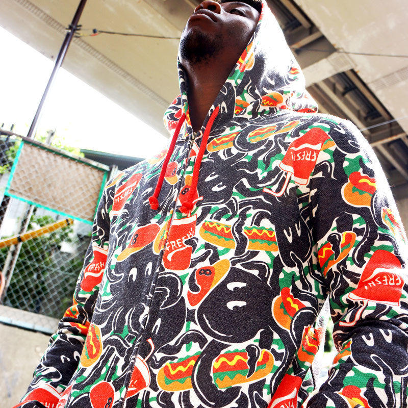 EiGHT ARMS  ALL OVER PRINT Hoodie〈NZ008-2〉