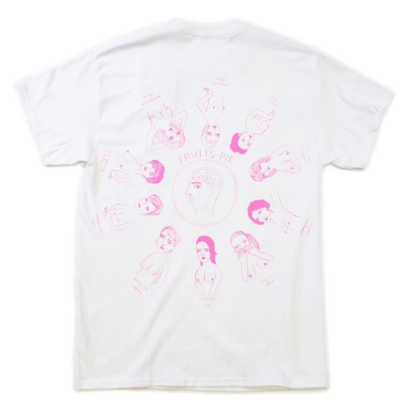 """Pie"" front pocket T-shirts  #white - by SHUNTAROU TAKEUCHI × RYUHEI KOBOSHI"