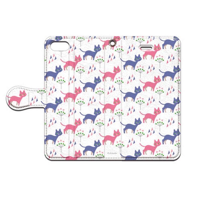 Shimako(しまこ) cat 手帳型スマホケース 対応機種(iPhone/アンドロイド機種)