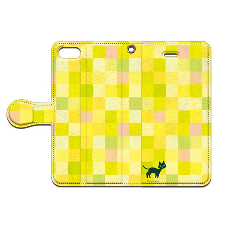Shimako(しまこ) スクエア(イエロー) 手帳型スマホケース 対応機種(iPhone/アンドロイド機種)