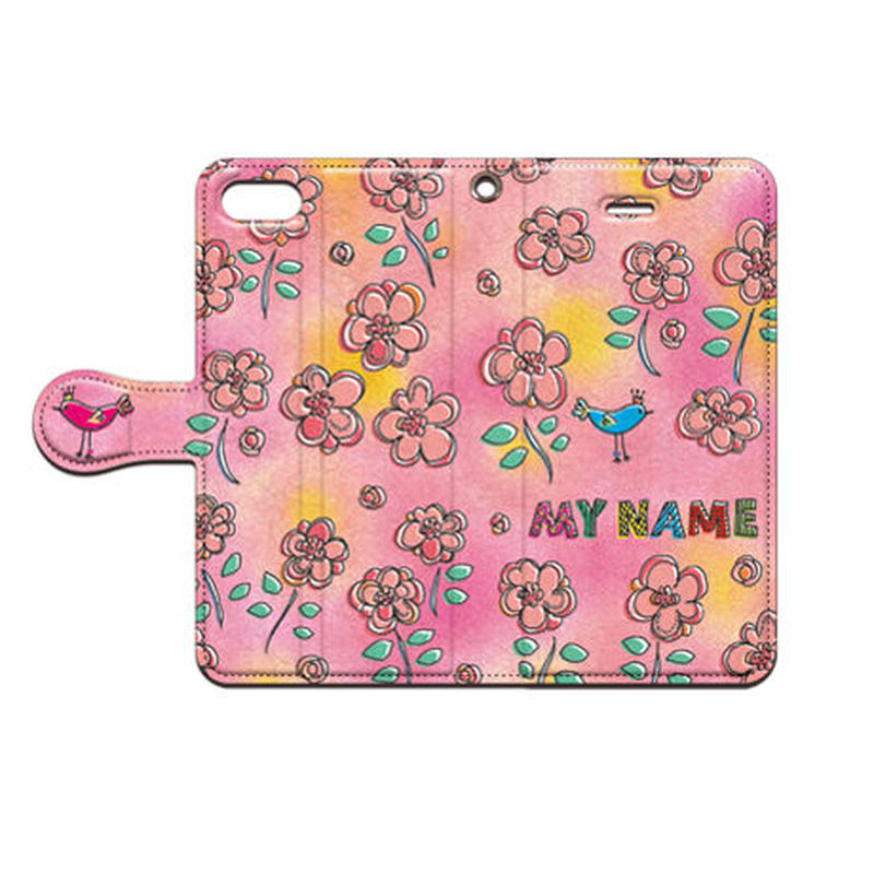 cana.(キャナ)  flower 手帳型スマホケース 対応機種(iPhone/アンドロイド機種)