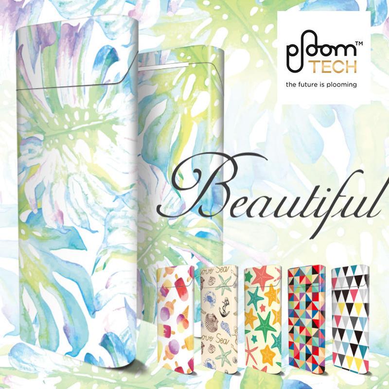 【全面対応フルカスタム!】Ploom TECH プルームテック3  【選べる6デザイン】専用スキンシール 裏表2枚セット