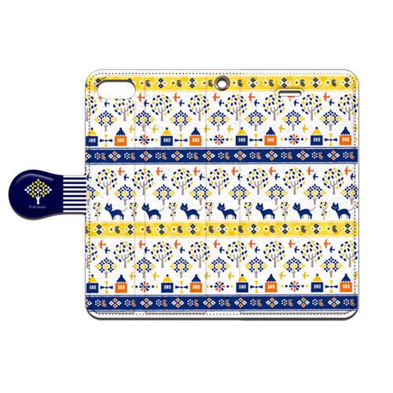Shimako(しまこ) Forest House(イエロー) 手帳型スマホケース 対応機種(iPhone/アンドロイド機種)