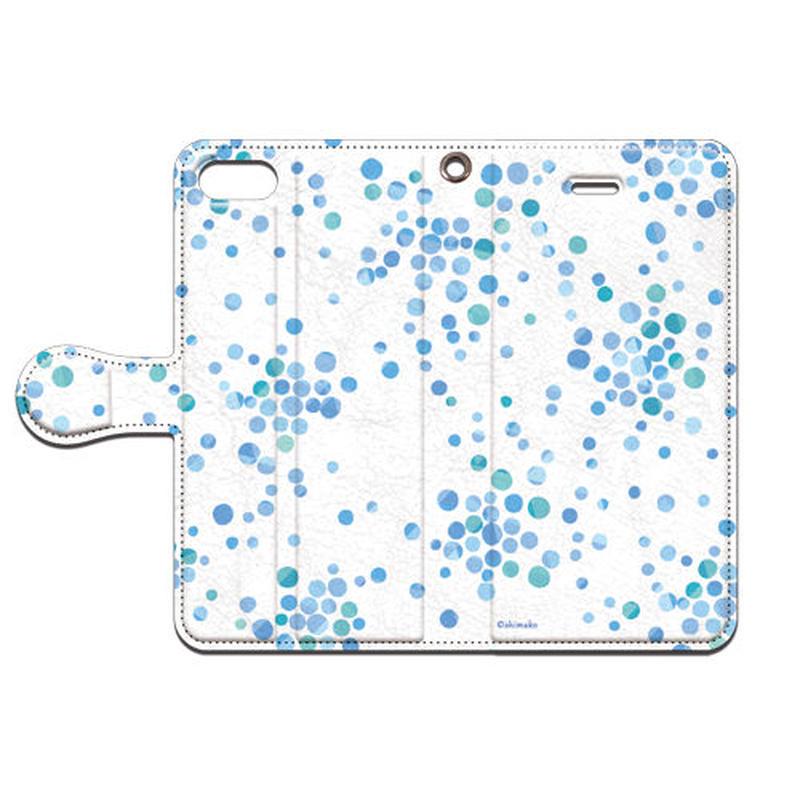 Shimako(しまこ) あまつぶ(ブルー) 手帳型スマホケース 対応機種(iPhone/アンドロイド機種)