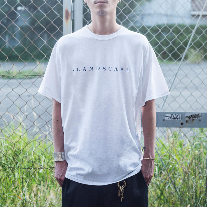 """nuttyclothing / LAND SCAPE T-SHIRT  """"WHITE"""""""