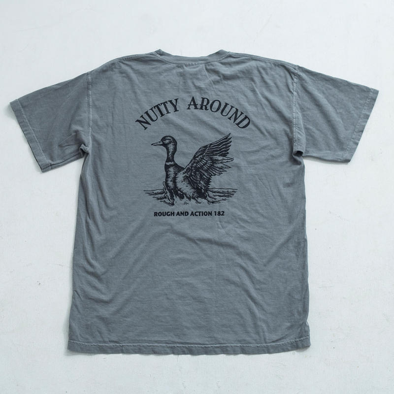 nuttyclothing  /  NUTTY AROUND  T-SHIRT GRAY
