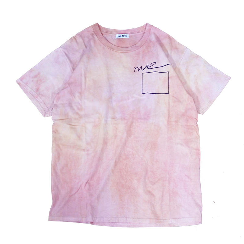 nve tie dye T-shirts (pink×yellow)