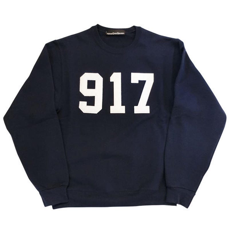 Call me917 Varsity Applique クルースウェットネイビー bianca chandonを手掛けるアレックスオルソンのスケートブランド!US買付