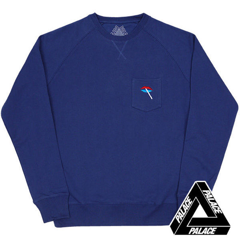PALACE SkateboardsパレススケートLIPS CREW BLUE