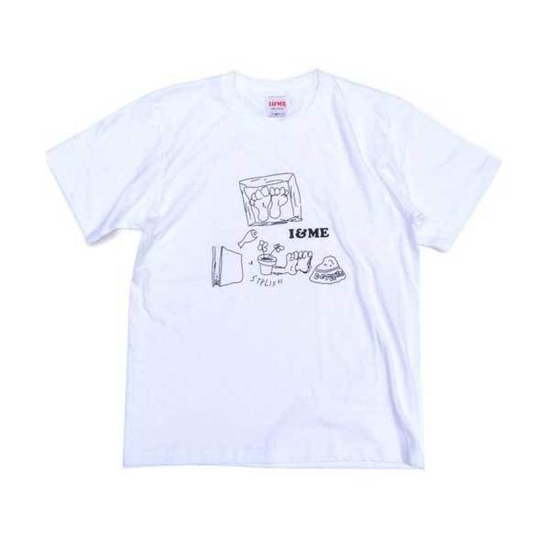 I&MEアイアンドミー 東京発ユニセックスストリートブランド Drawing Teeホワイト ストリート系ガールズファッション