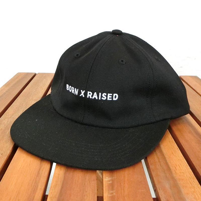 ボーン アンド レイズド BORN X RAISED DADCAP ダッドキャップ ブラック