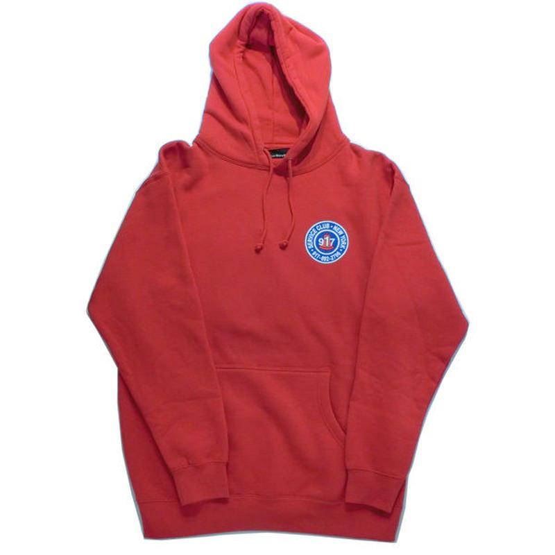 Call me917  Club プルオーバーHood レッド red bianca chandonを手掛けるアレックスオルソンのスケートブランド!US買付