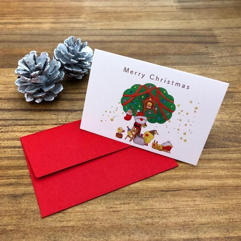ひよこさんクリスマスカード「Merry Christmas」