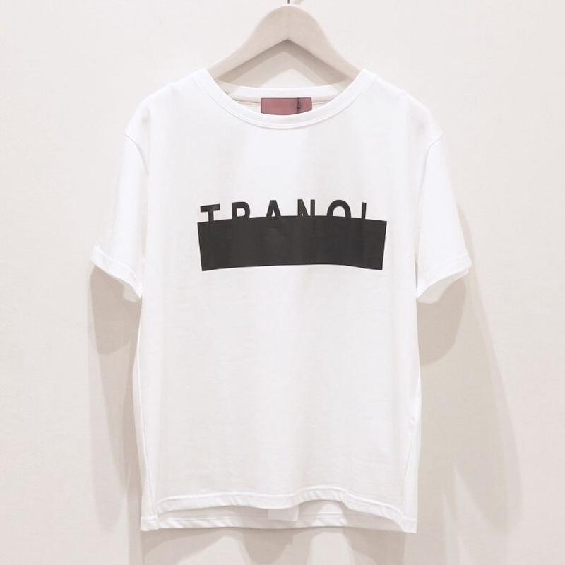 tranoi ロゴT white