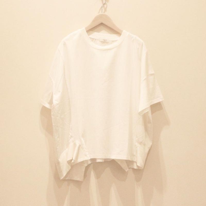 アシンメトリーレディスカットソー(white)