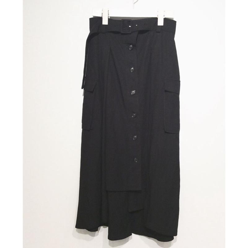 si:mリネンスカート(black)