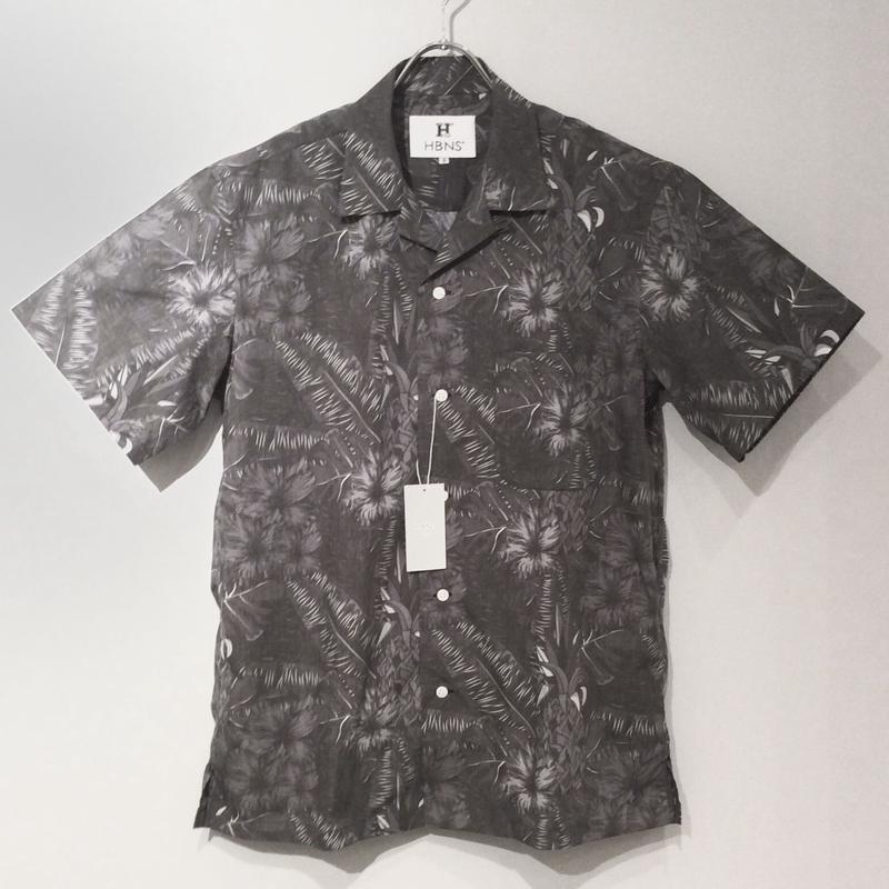 HBNS ボタニカルシャツ(gray)