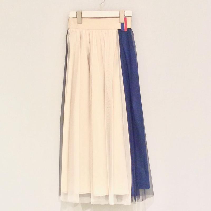 tranoi チュールスカート(blue)