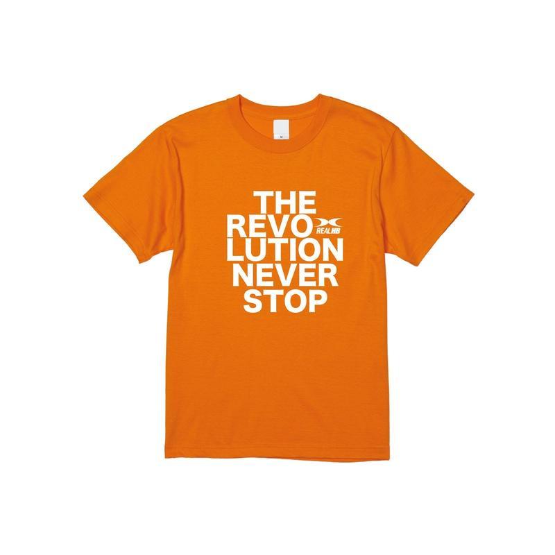 REVOLUTION Tシャツ オレンジ