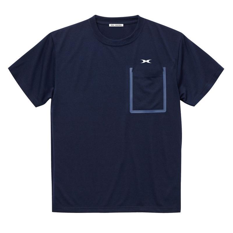 ポケットドライTシャツ ネイビー