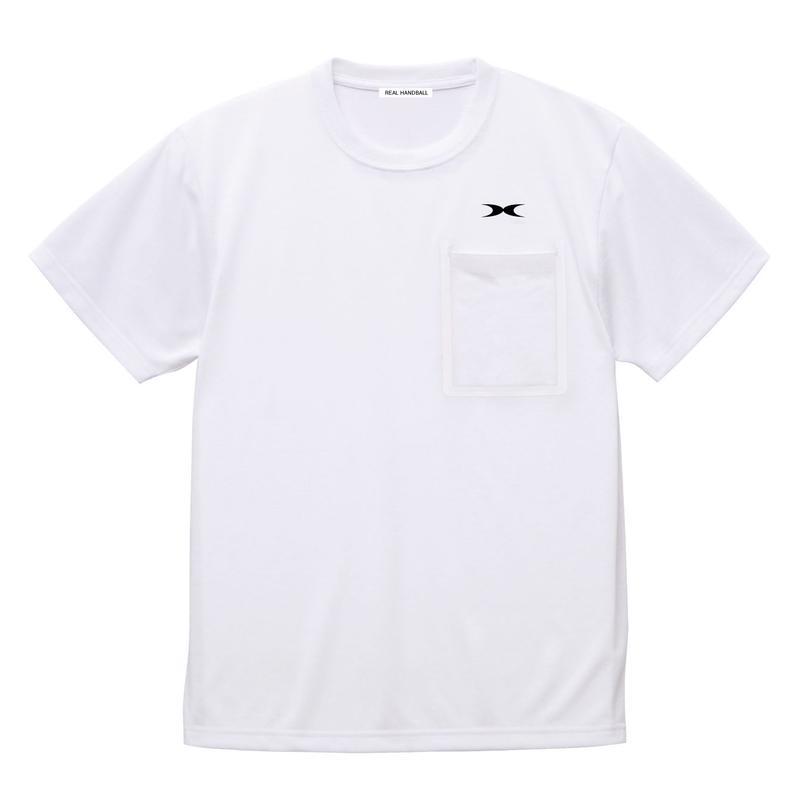 ポケットドライTシャツ ホワイト
