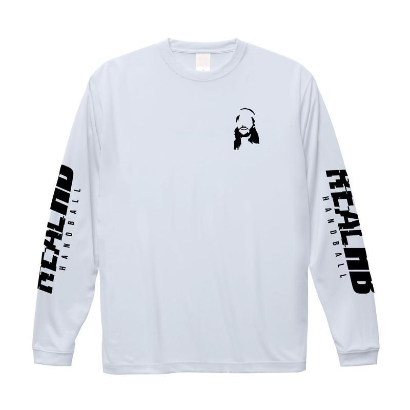 シンプルロゴ フェイスドライロング Tシャツ ホワイト