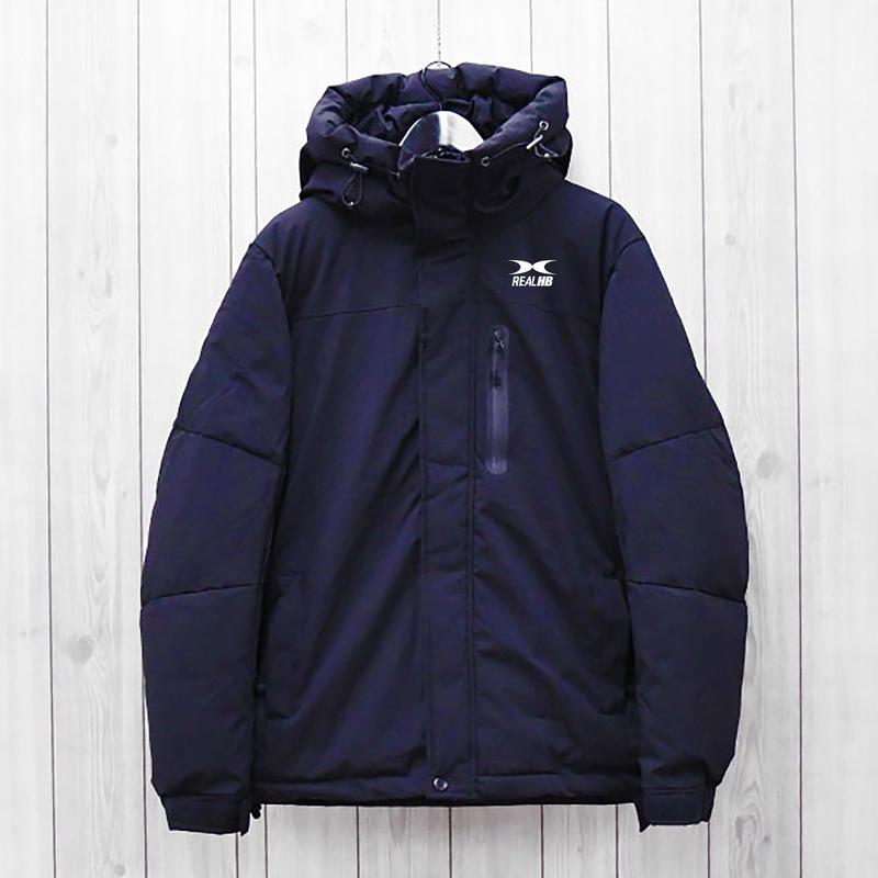 中綿ストレッチフードジャケット ブラック