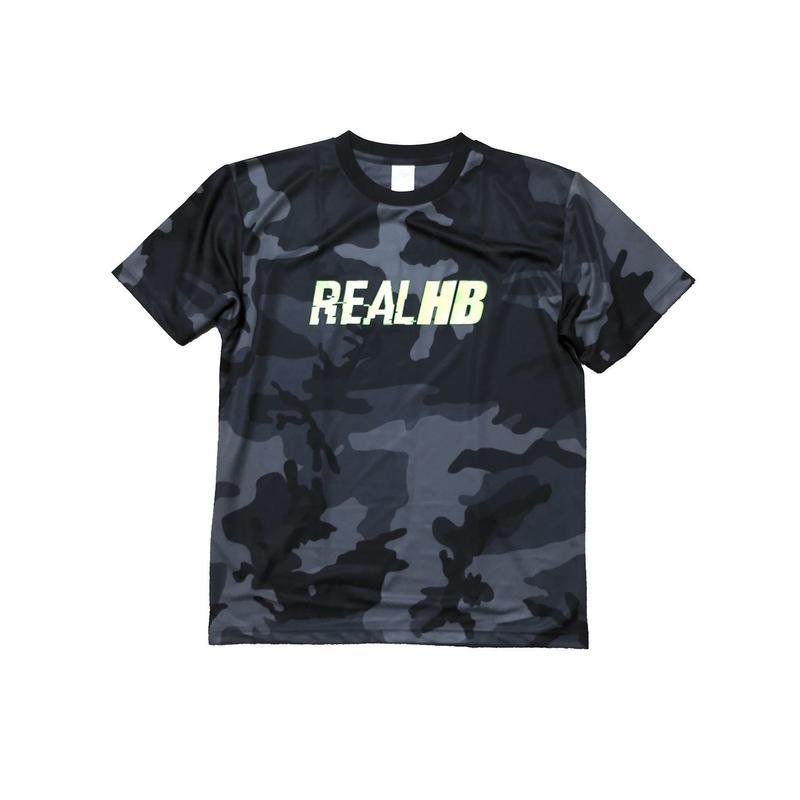 ベーシック ドライメッシュTシャツ ブラックカモフラ