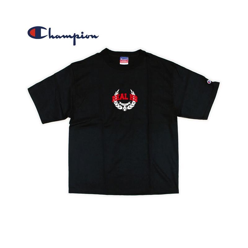 REAL HB カレッジオーバーTシャツ ブラック