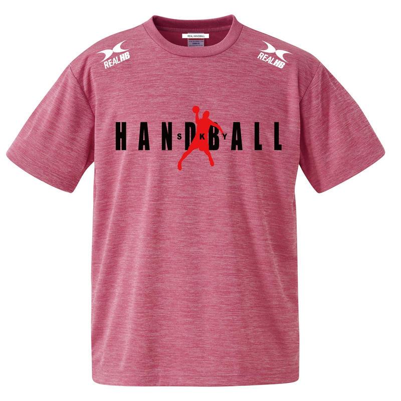 ヘザーピンク ドライTシャツ