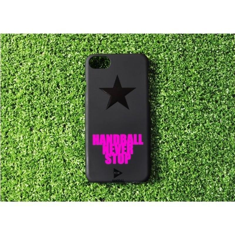 iphoneケース  ブラックスター ショッキングピンク ★iPhone対応 5/5s/SE 5c 6/6s 6Plus/6sPlus 7 7plus 8 8plus/X★