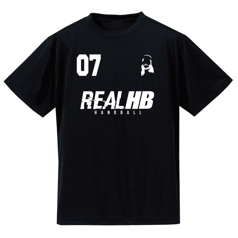 07 フェイス ドライTシャツ ブラック