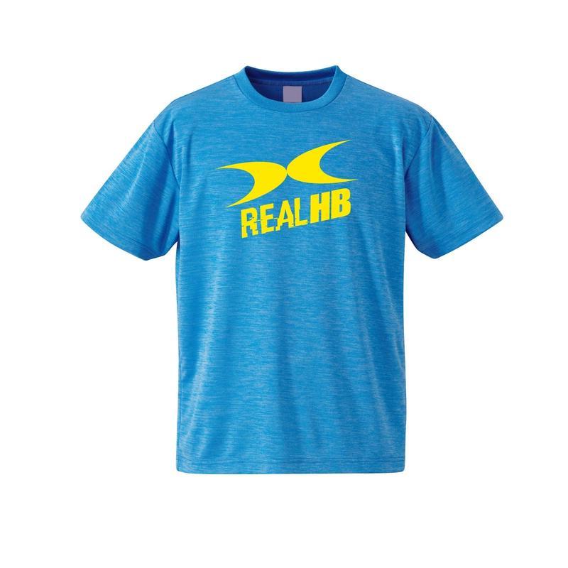 ビッグロゴ ドライ杢Tシャツ ブルー